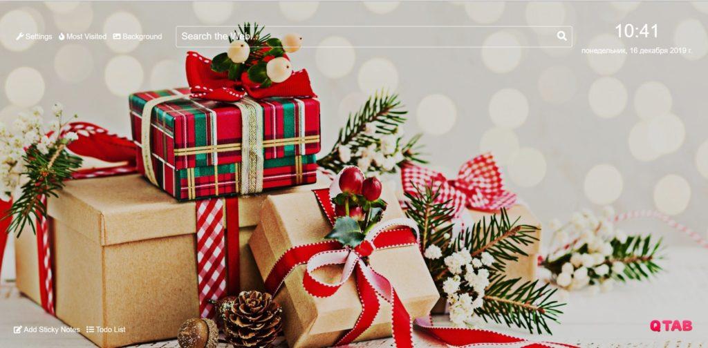 Christmas Gift Wallpapers Hd New Tab Theme Chrome Extensions Faerytab